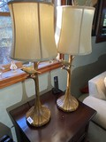 Pair of unusual table lamps with birds