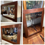 Group lot of three larger sized decorative mirrors