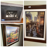 2 pieces decorator art PLUS Framed/Signed Watercolor