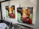 2 Decorative Prints of Cows