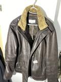 Calvin Klein Leather look Bomber Jacket