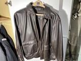 Joseph A Bank Size Medium Leather Jacket