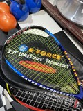 2 newer racquetball racquets and cases, balls, plus weight lifting