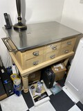 Nice Kitchen Island w/Stainless Steel Top, Card Catalogue style drawers