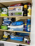 Cupboard contents lot - cleaning supplies