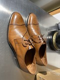 Pair of like new men's Italian leather shoes by Massimo Matteo