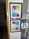Two framed decorative prints