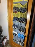 Large qty of flip flops with door hanger