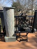 Water Feature, Folding Side Table and Unique Yard Art Sculpture
