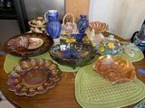 Large Group of Glassware & Ceramic Items - Fenton, Carnival Glass, Fioriware & More