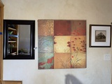 1 Mirror and 2 Pieces of Framed Art