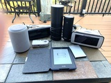 Group of Electronics Including Kindle, Amazon Speakers, Sony Cyber Shot Camera and More