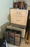 3 Drawer Cabinet with Books, CD's and More