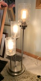 Table Lamp with Glass Shades