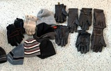 Group of Gloves and Hats