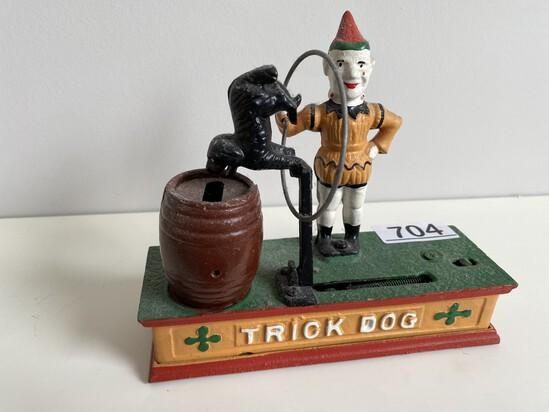 Cast Iron Repro Trick Dog Bank