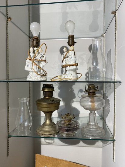 Old Oil Lamps and more lot