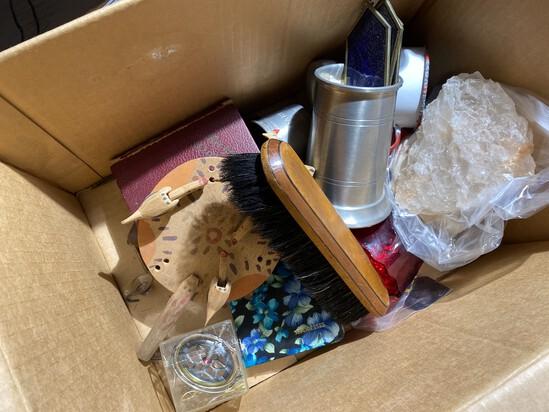 Box lot of misc. antique, vintage items