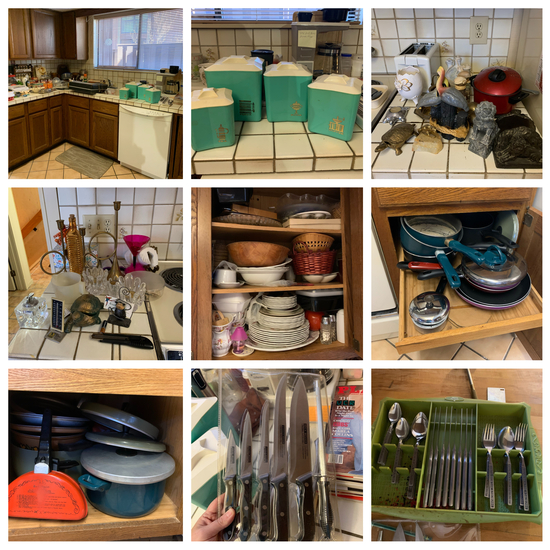 Kitchen Clean Out - Lots of Vintage Kitchen Items, Flatware, Canisters, Small Appliances and More