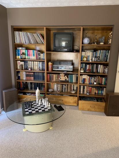 Vintage Records, Panasonic Audio Entertainment Center RS-876S, Books, Marble Chess Set, & More
