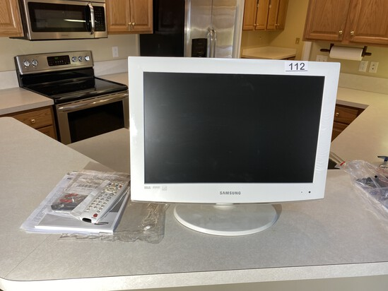 "19"" television with remote"