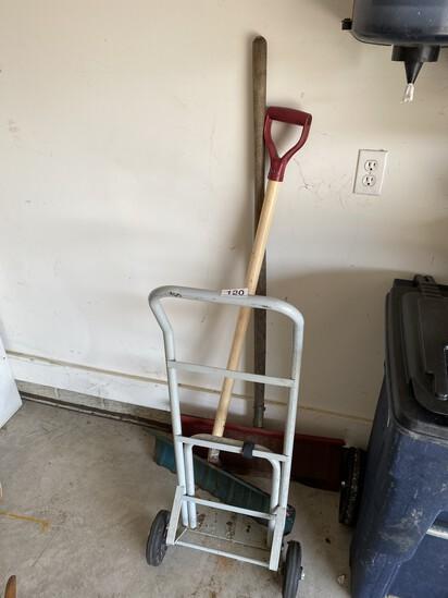 Dolly, 2 shovels
