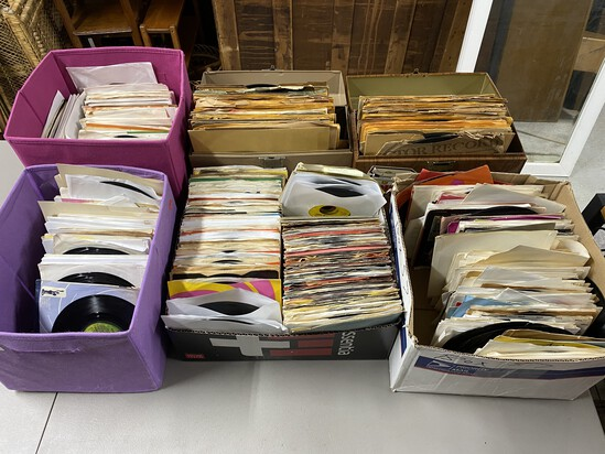 Large lot of vintage 45 and 33 records
