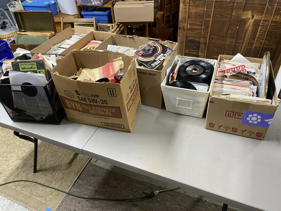 Very Large quantity of 45 records and 33's