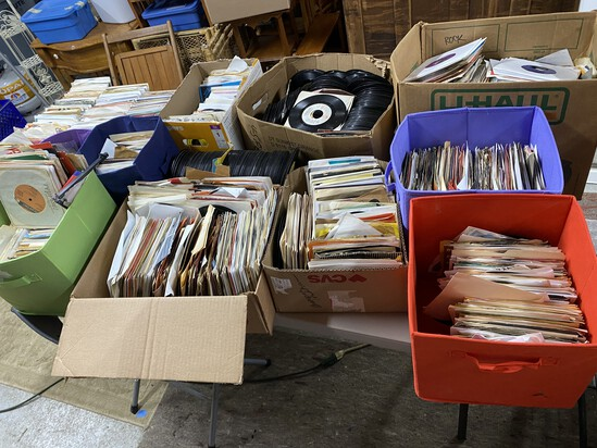 Very Large quantity of 45 records, LP's