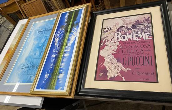 Group lot of framed art