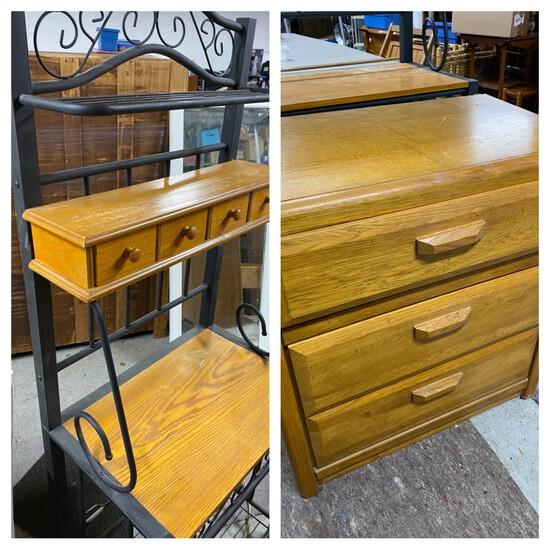 Baker's rack and small dresser