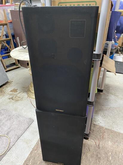 Pair of vintage speakers by Vector Research