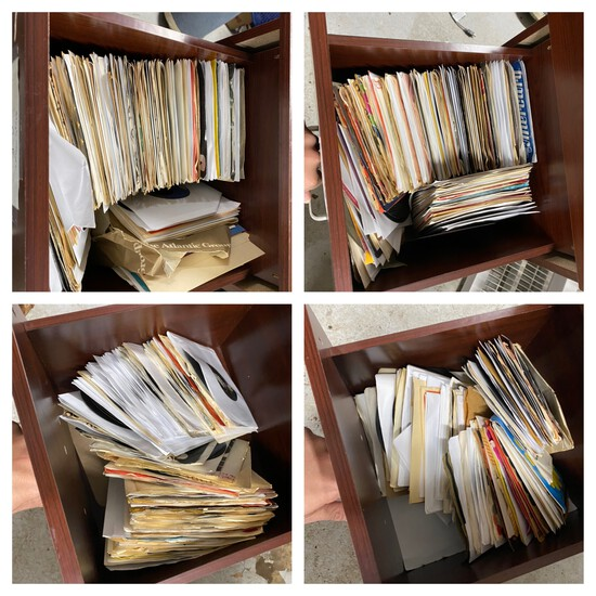 File cabinet full of 45 records