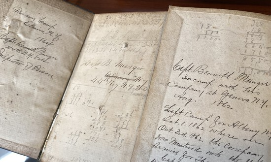Civil War diaries including as Head of Prison Camp