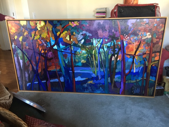 """80""""x42"""" Oil on Canvas painting by Russ Vogt"""