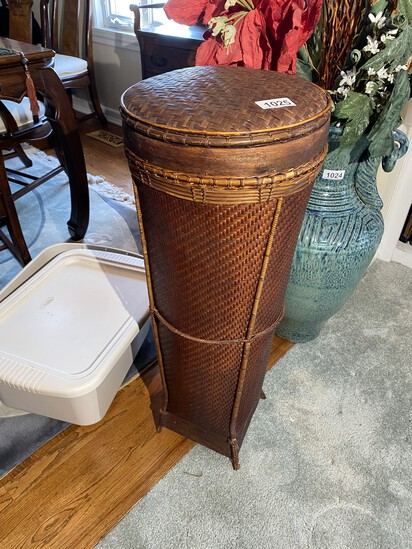 Tall Wicker Basket or Storage container