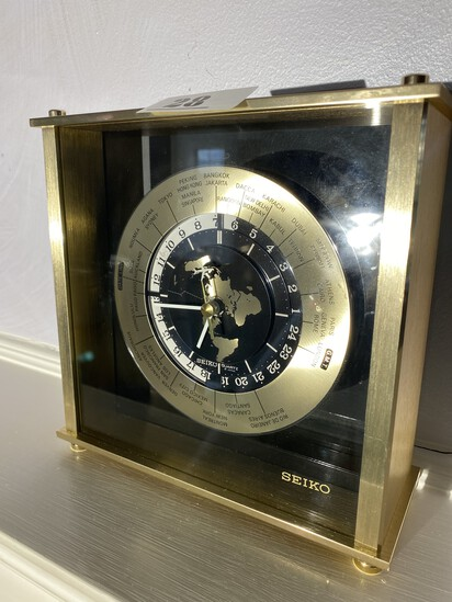 Vintage Mid-Century Seiko World Time Clock
