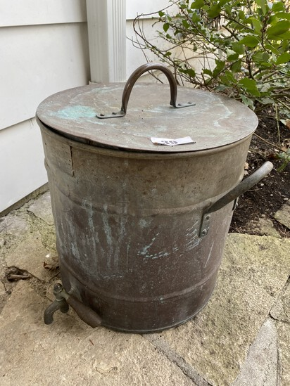 Antique Metal Dispenser Container with Lid