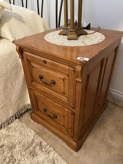 Nice Oak Wooden File Cabinet