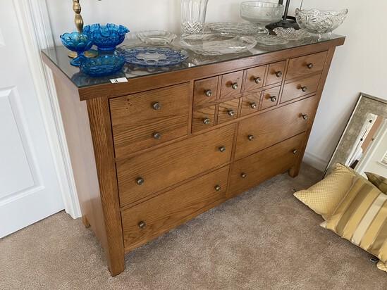 Nice Oak Large Bureau or Dresser
