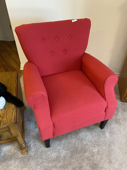 Nice red upholstered chair