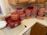 Group lot of tupperware