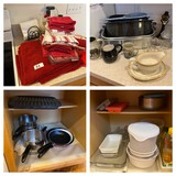 Large lot of assorted kitchen items