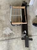 Bed frame, drying rack, wheeled cargo basket