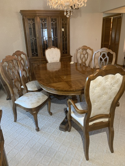 Gorgeous Dining Room Set - Table with 6 Chairs and China Cabinet by Unique