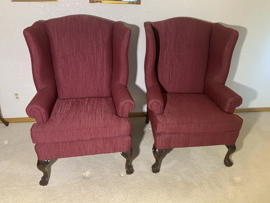 2 Wingback Chairs by Best Chairs Inc.