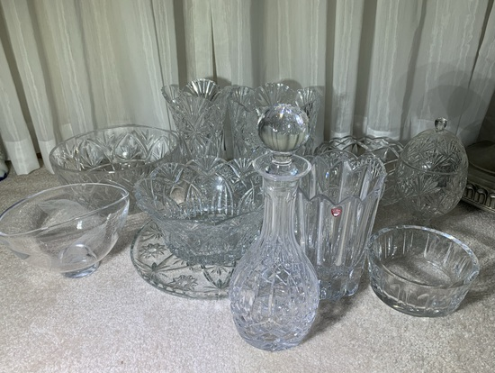 Assortment of Cut Glass & Crystal