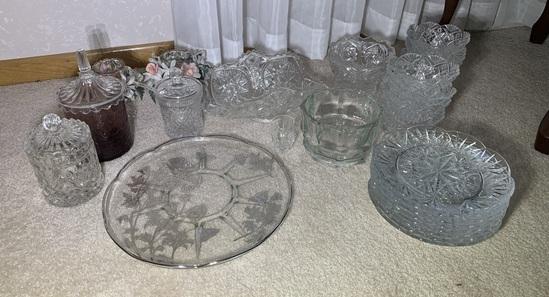 Assortment of Cut Glass Glassware