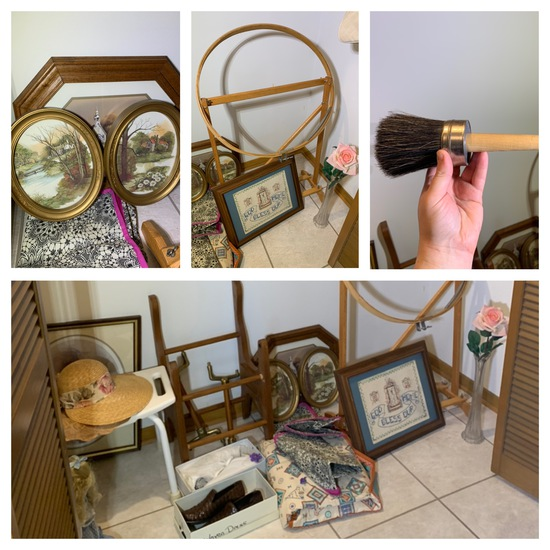 Closet Clean Out - Frames, Shoes, Decorative Items, Purses & More.  See Photos.