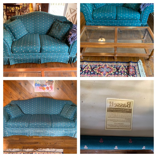 Bassett Sofa & Love Seat & Coffee Table